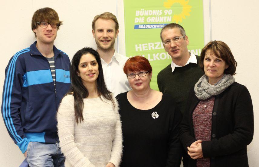 Jan Michael Fricke, Dilek Gülsever, Tilman Krösche, Ursula Derwein, Michael Walther und Jutta Beckmann (von links nach rechts)