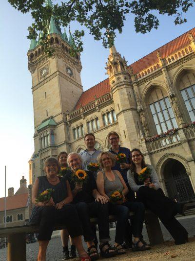Die neue Grüne Ratsfraktion (von links nach rechts): Elke Flake, Lisa-Marie Jalyschko, Helmut Blöcker, Helge Böttcher, Beate Gries, Rainer Mühlnickel, Annika Naber