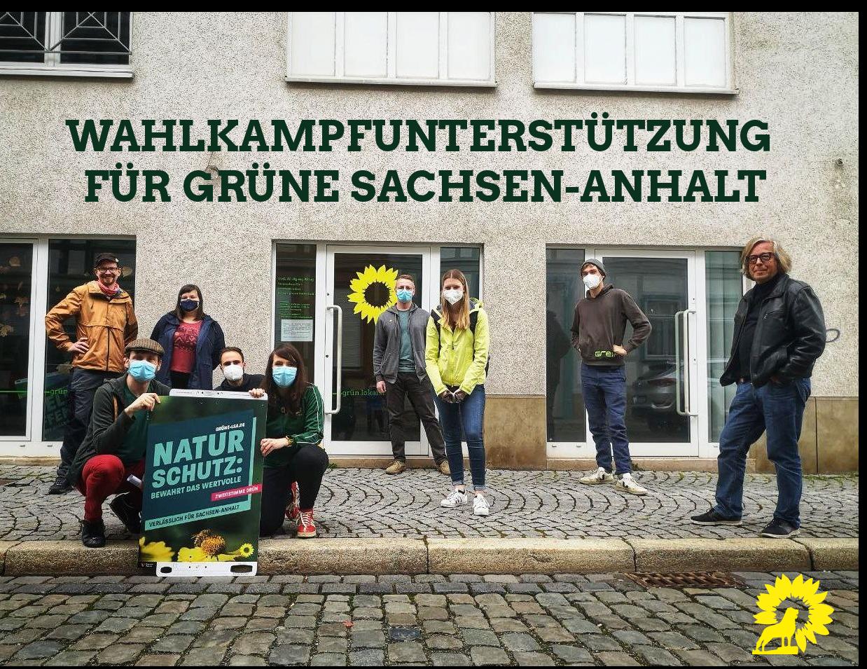 Wahlkampfunterstützung für die Grünen in Sachsen-Anhalt